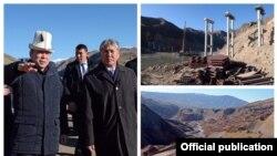 Президент Алмазбек Атамбаевдин жолду көрүп жатан учуру.
