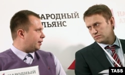 Николай Ляскин (слева) и Алексей Навальный, 2013 год