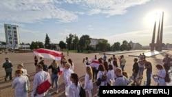 Пратэст віцебскіх лекараў 15 жніўня 2020 году.