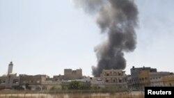 عکسی از درگیری های گذشته از شهر طرابلس