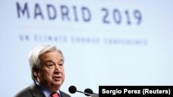 آنتونیو گوترش منشی عمومی سازمان ملل متحد با سخنرانیاش کنفرانس تغییرات اقلیم در شهر مادرید پایتخت اسپانیا را افتتاح کرد. December 2, 2019