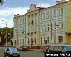 Здание украинского предприятия «Черноморнефтегаз», Симферополь. Архивное фото