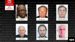 Фотографии тех, кого Интерпол внес в список особо разыскиваемых