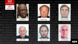 شش نفری که اینترپل در مورد آنها «اخطار قرمز» اعلام کردهاست