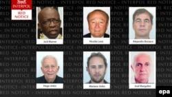 ФИФА-дағы корурпция ісі бойынша айыпталған алты адам туралы Интерпол хабарламасы. (Көрнекі сурет)