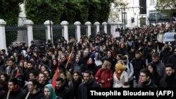 Архивска фотографија - Илустрација - протест во Грција.