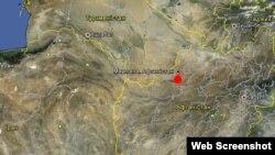 Маймана дар харитаи Google Earth