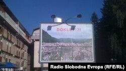 Bilbord Jovana Lončara prije nego je uklonjen, 12. avgust 2010