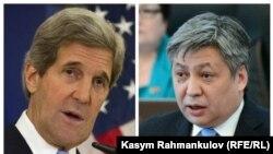 АКШ мамлекеттик катчысы Жон Керри жана Кыргызстандын тышкы иштер министри Эрлан Абдылдаев