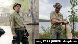 Леонід Брежнєв на полюванні, Володимир Путін – на риболовлі
