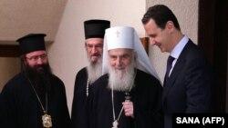Patrijarh SPC Irinej i predsednik Sirije Bašar al-Asad, Damsk, 3. juna 2019.