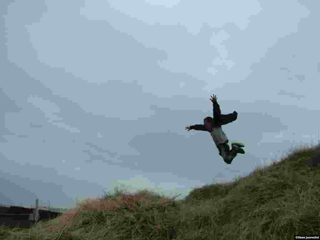 Хочу стать птицей, крылья есть. Прислал Нурасыл Казбекулы.