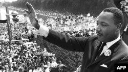 Мартін Лютер Кінг перед прихильниками, Вашингтон, 28 серпня 1963 року