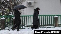Snijeg inspiracija za šale o nesnalažljivim Podgoričanima