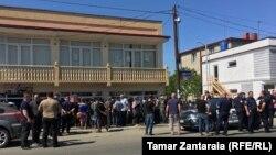 Акция протеста беженцев в Зугдиди