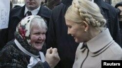 Юлия Тимошенко у здания Генпрокуратуры Украины
