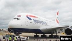 Самолет Airbus A380 британской авиакомпании British Airways.