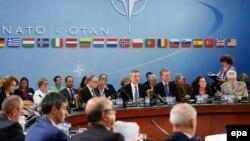 آرشیف، اجلاس وزرای دفاع کشورهای عضو ناتو در بروکسل. June 14, 2016