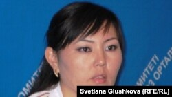 Samal Ghadylbekova of the Kazakh Justice Ministry's Committee to Control Penitentiaries