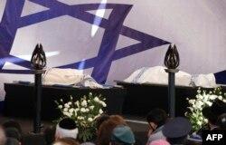 Під час прощання з загиблими на цвинтарі в Єрусалимі, 13 січня 2013 року