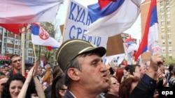 Protest Srba u Mitrovici protiv sporazuma