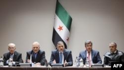 Делегация сирийской оппозиции в Женеве.
