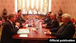 Встреча сопредседателей Минской группы ОБСЕ с министром иностранных дел Армении Эдвардом Налбандяном, Москва, 14 ноября 2017 г.
