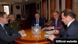 Սեյրան Օհանյանի հանդիպումը ՀՀ-ում Ռուսաստանի արտակարգ և լիազոր դեսպան Իվան Վոլինկինի հետ, 24-ը օգոստոսի, 2016 թ․