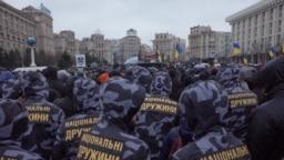 Membri ai Batalionului Azov astăzi pe Maidan