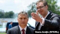 Premijer Mađarske Viktor Orban i premijer Srbije Aleksandar Vučić, Beograd 1. jul 2014.