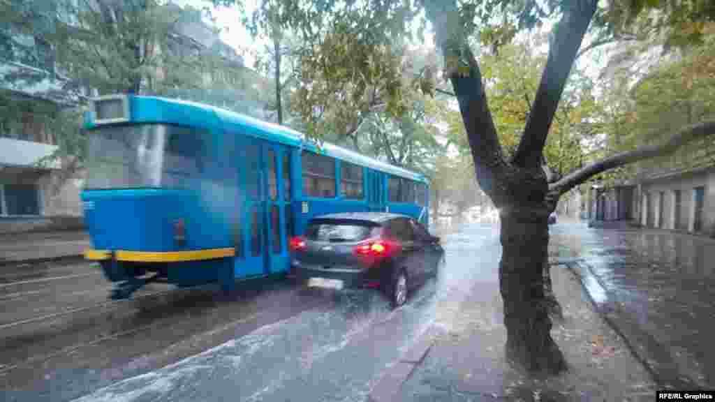 Дощ на Молдаванці