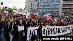 Sa protesta građana 25. maja 2016.