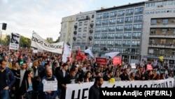 "Jedan od protesta Inicijative ""Ne da(vi)mo Beograd"", 25. maj 2016."
