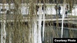 Ганновер. Замершие фонтаны CeBIT'а. Фото Евгения Козловского. ekozl.fotki.com