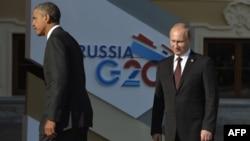 Ռուսաստան -- Օբաման և Պուտինը «Մեծ քսանյակի» գագաթնաժողովում, 5-ը սեպտեմբերի, 2013