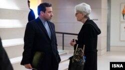 Iran xarici işlər nazirinin müavini Abbas Araghchi və Wendy Sherman
