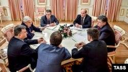 Джордж Сорос – гость президента Украины Петра Порошенко. Киев, 13.01.2015.