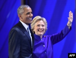 ABŞ-ın indiki prezidenti Obama və prezidentliyə namizəd Hillary Clinton.