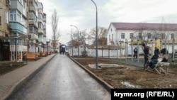 Двор на улице Бувина в Керчи