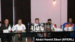 المؤتمر الصحفي لمدربي منتخبي العراق وايران