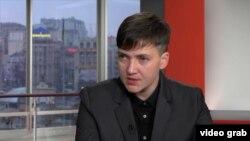 Надія Савченко, архівний відеокадр