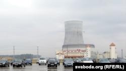Беларуская АЭС, якая будуецца каля Астраўца. 13 красавіка 2016 году