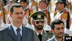 Presidenti i Sirisë, Bashar al-Asad, dhe ai i Iranit, Mahmud Ahmadinexhad - foto nga arkivi.