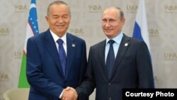 Ислам Каримов и Владимир Путин.