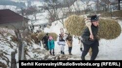 Tradiţia de a umbla cu Malanca în regiunea Cernăuţi, 15 ianuarie 2017