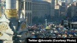 Ուկրաինա - Կիևի Անկախության հրապարակում ընդդիմության ցույցերը շարունակվում են, 22-ը դեկտեմբերի, 2013թ.