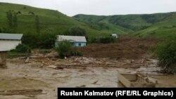 Село Кыржол после оползня.