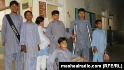 Деца заболени од детска парализа во Пакистан.