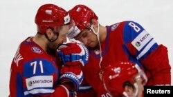 Илья Ковальчук и Александр Овечкин после поражения