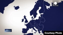 Belarus - Map of Europe on the channel Euronews